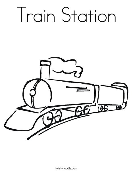 Black Train Coloring Page