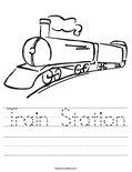 Train Station Worksheet