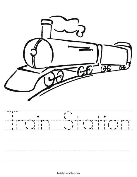 Black Train Worksheet