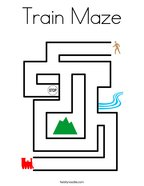 Train Maze Coloring Page