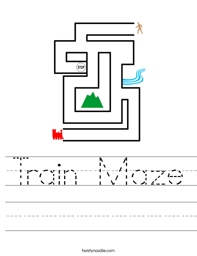 Train Maze Worksheet