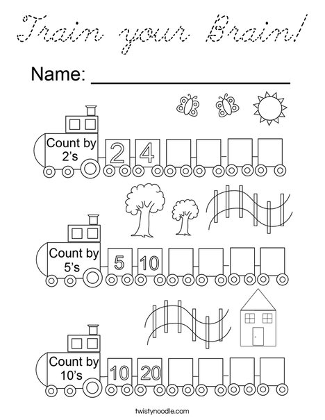 Train your Brain! Coloring Page