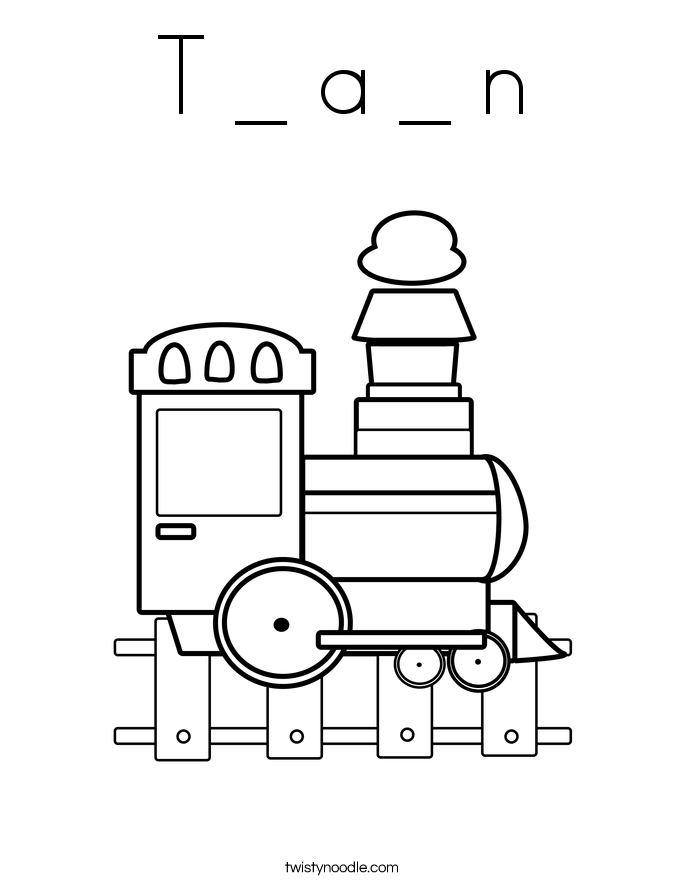 T _ a _ n Coloring Page