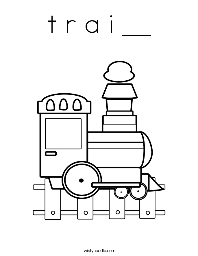 t r a i __ Coloring Page