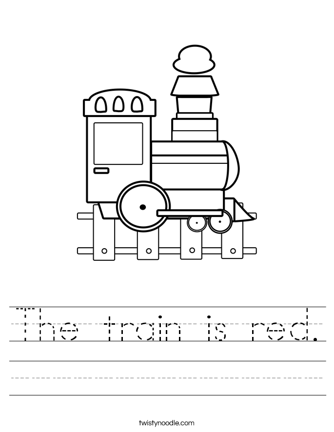 The train is red. Worksheet