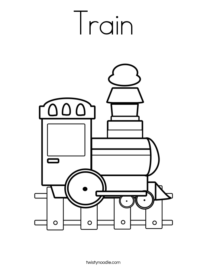 train coloring page twisty noodle