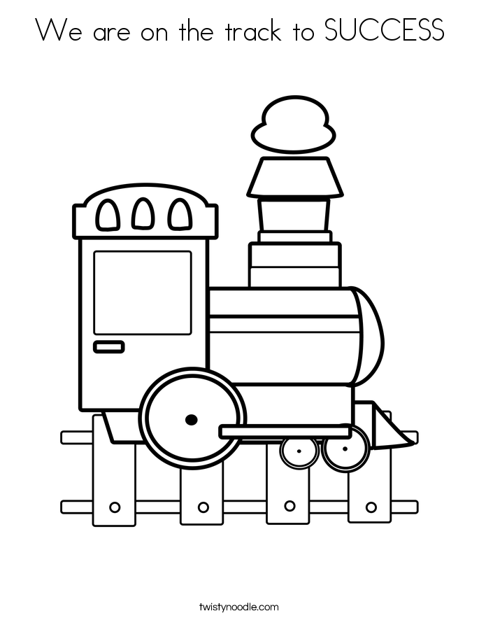 We are on the track to SUCCESS Coloring Page