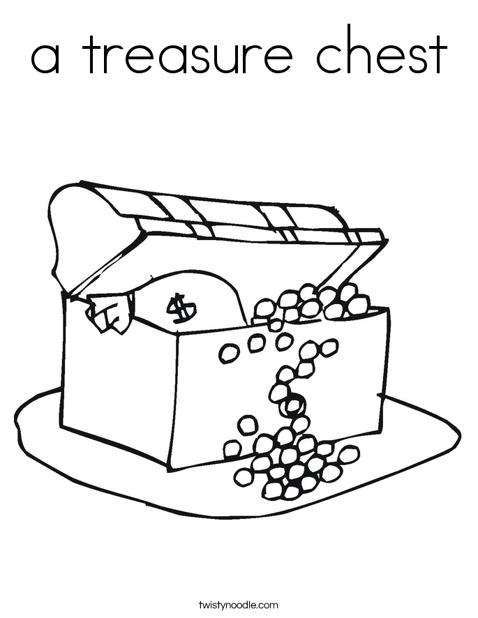 a treasure chest Coloring Page