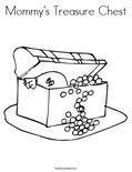 Mommy's Treasure Chest Coloring Page
