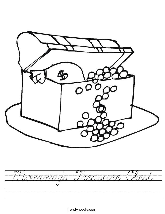Mommy's Treasure Chest Worksheet