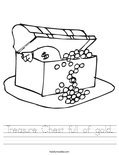 Treasure Chest full of gold. Worksheet