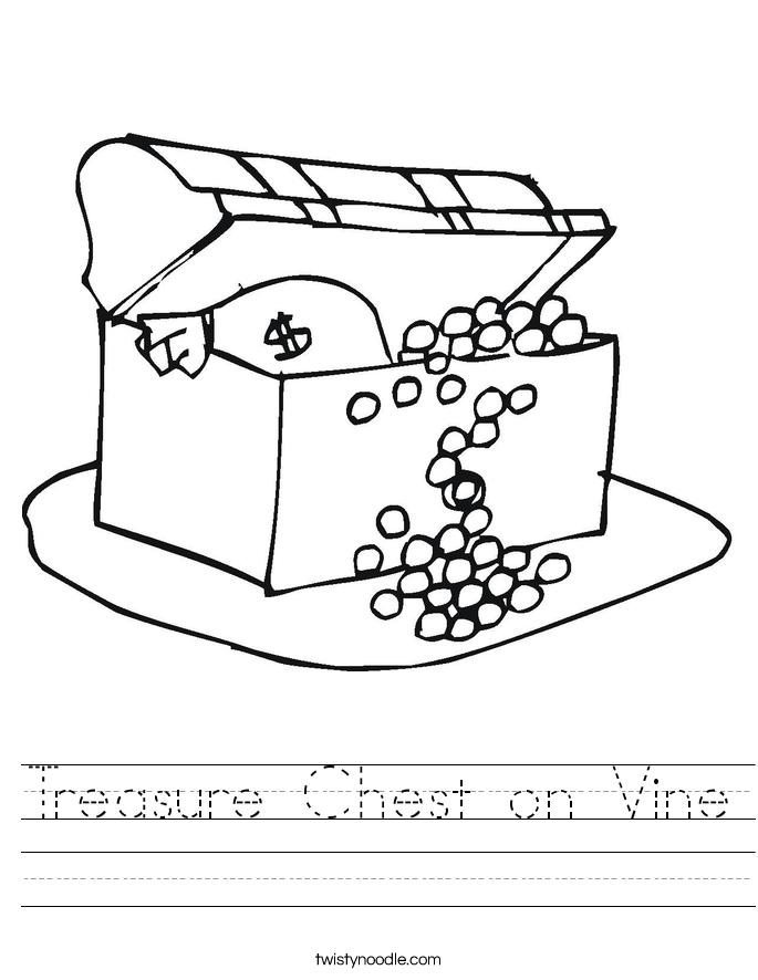 Treasure Chest on Vine Worksheet