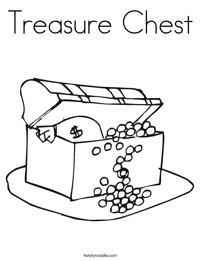 Pirate spot coloring pages ~ Treasure Chest Coloring Page - Twisty Noodle