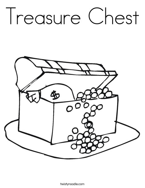 pirate treasure chest coloring pages - photo#20