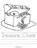 Treasure Chest Handwriting Sheet