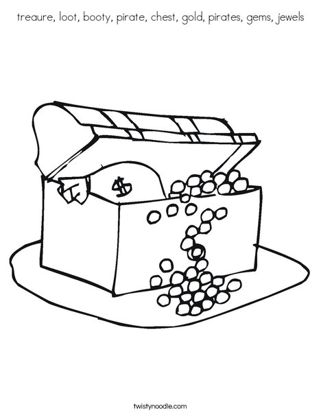 gold and jewels coloring pages - photo#2