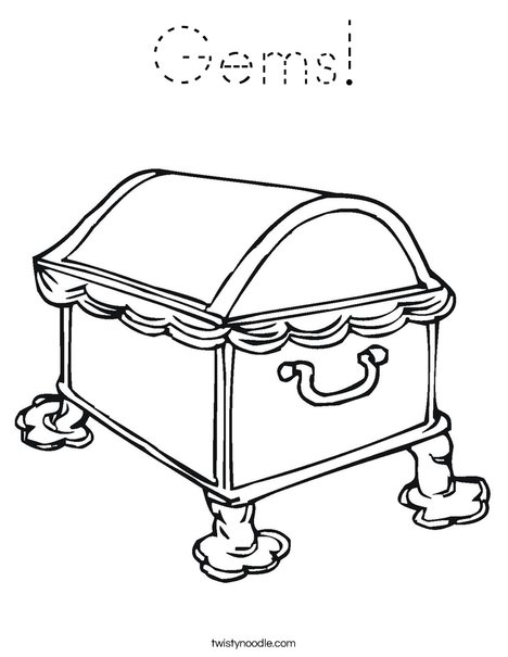 Treasure Chest1 Coloring Page