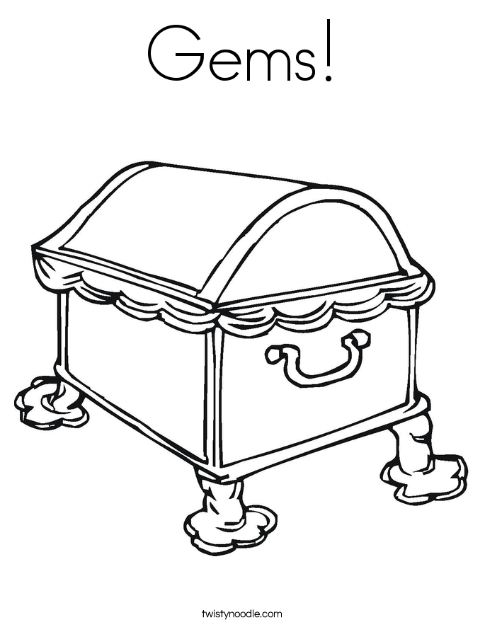 Gems! Coloring Page