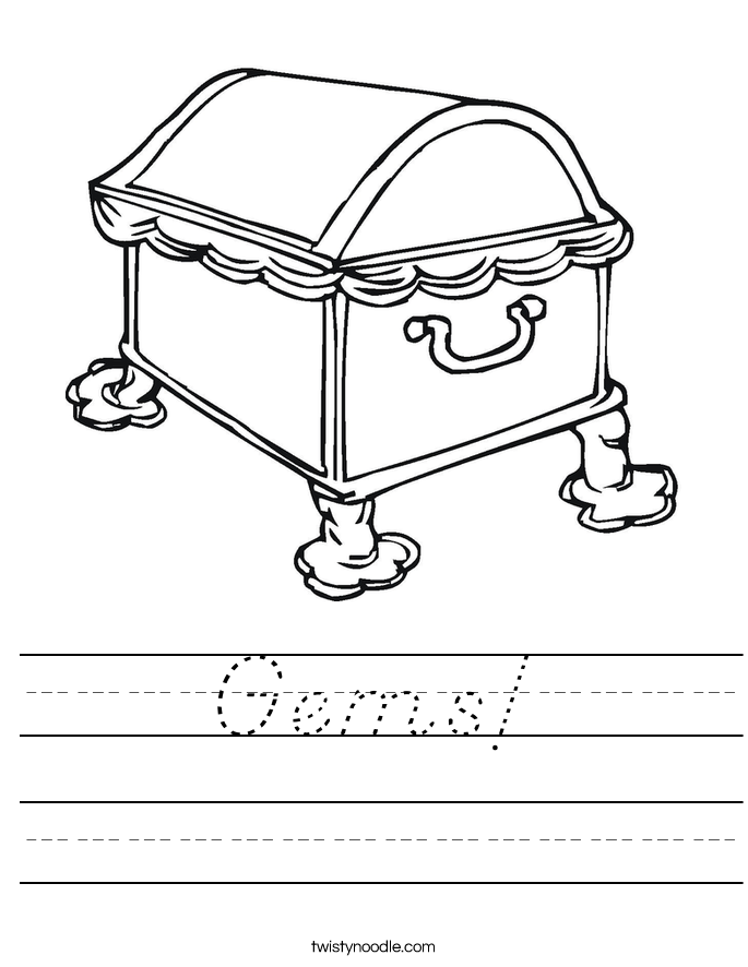 Gems! Worksheet