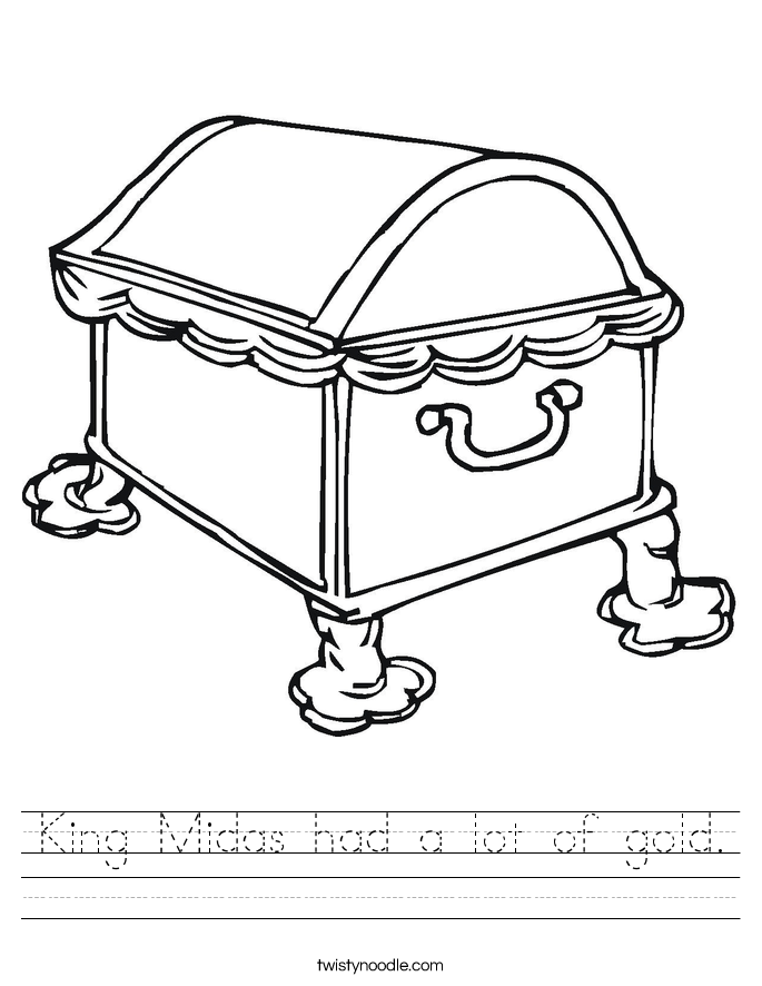 King Midas had a lot of gold. Worksheet
