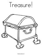 Treasure Coloring Page
