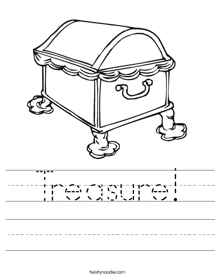 Treasure! Worksheet