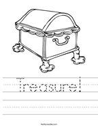 Treasure Handwriting Sheet