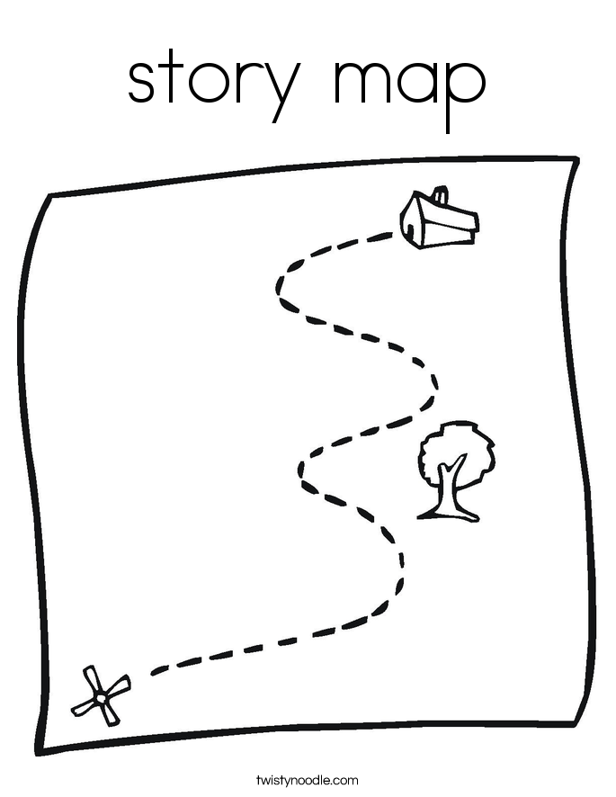 story map Coloring Page