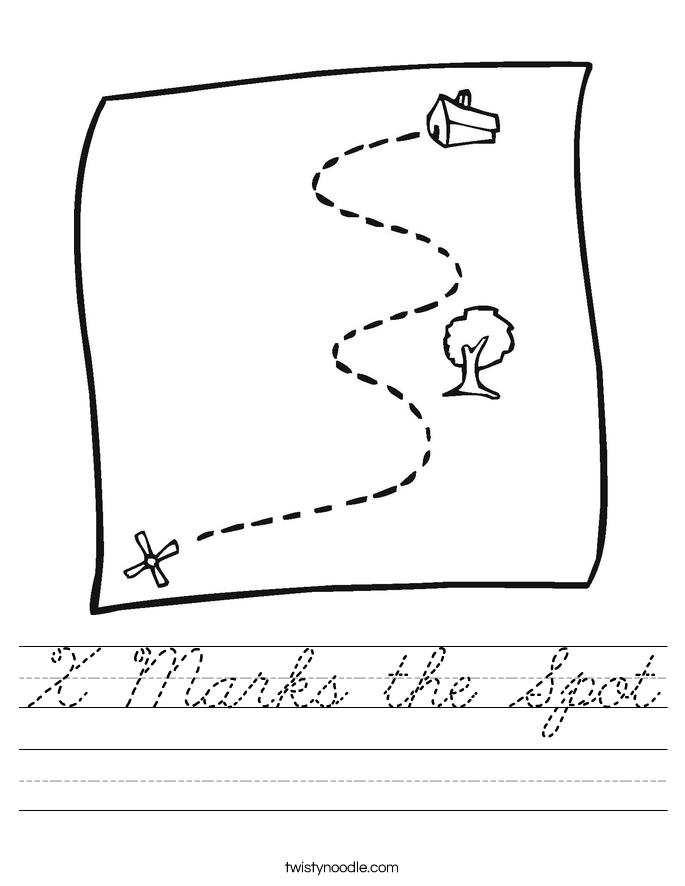 X Marks the Spot Worksheet