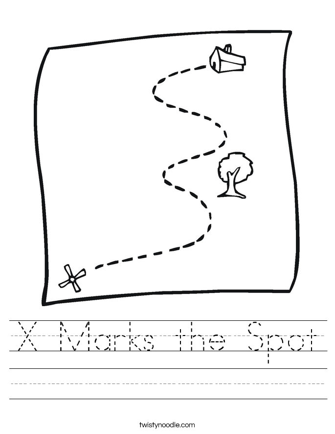 x marks the spot coloring pages - photo #9