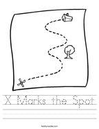 X Marks the Spot Handwriting Sheet