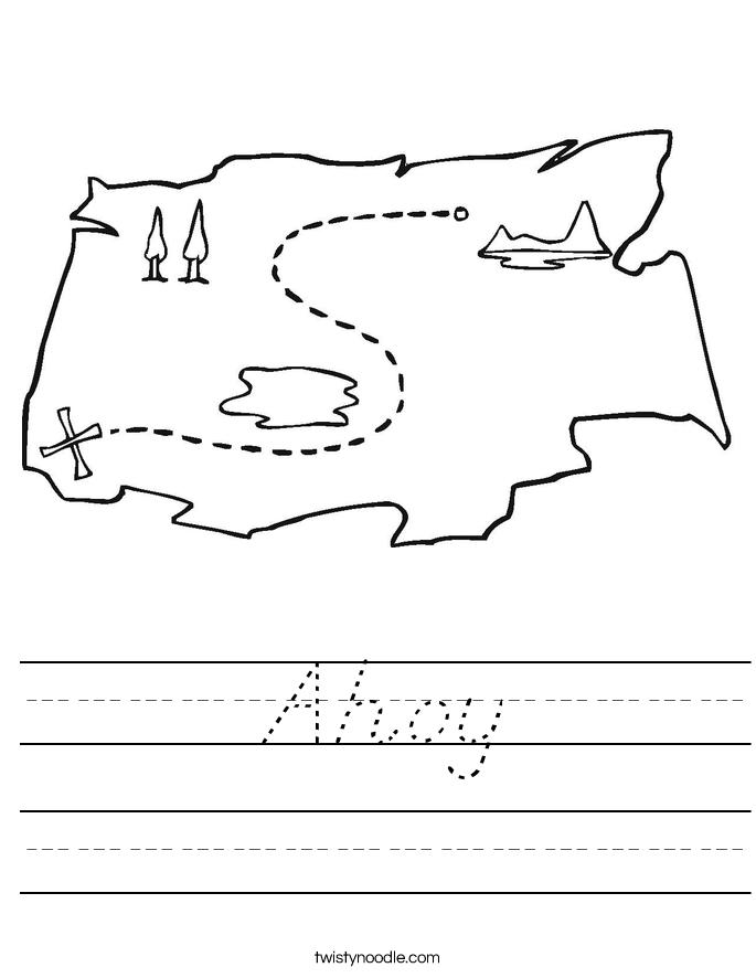 Ahoy Worksheet