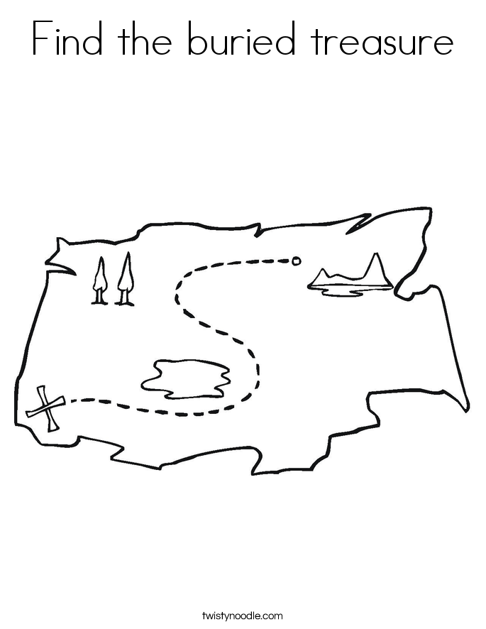 Find the buried treasure Coloring Page