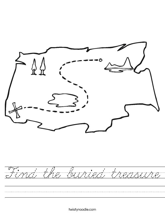 Find the buried treasure Worksheet