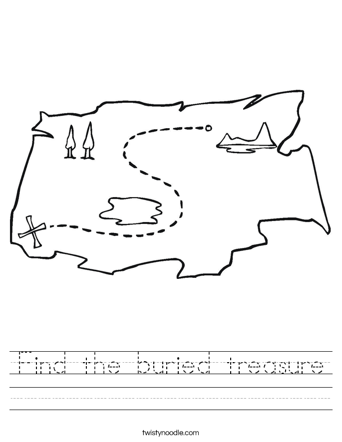 Find the buried treasure Worksheet