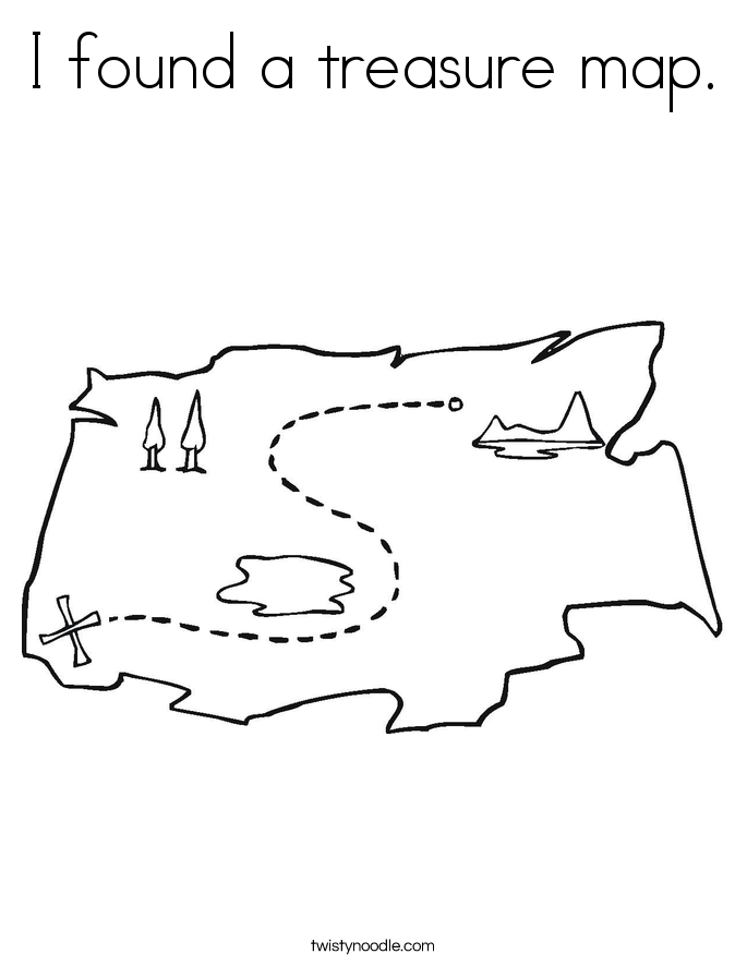 I found a treasure map. Coloring Page