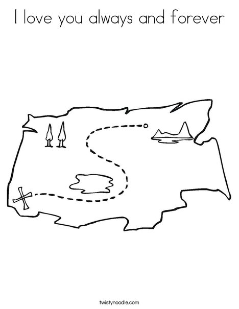 Treasure Map1 Coloring Page