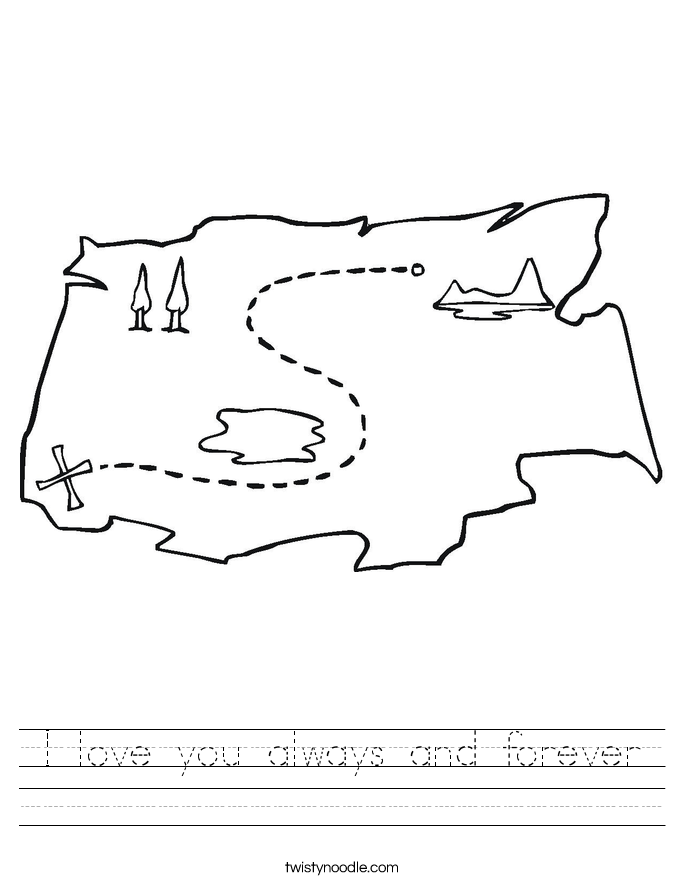 I love you always and forever Worksheet