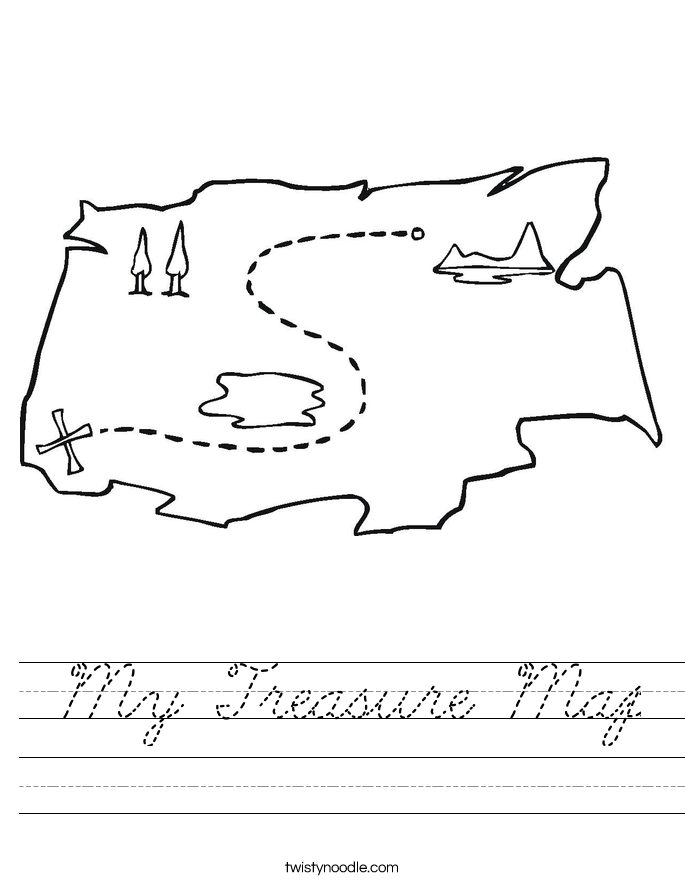 X Marks The Spot Coloring Page My Treasure Map Worksh...