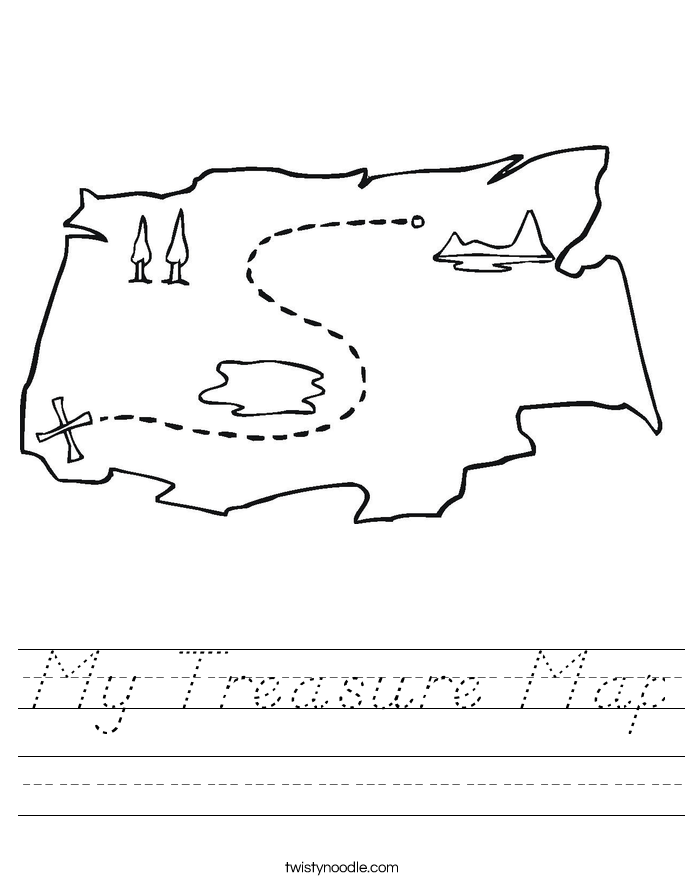 My Treasure Map Worksheet
