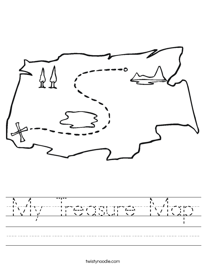 My Treasure Map Worksheet