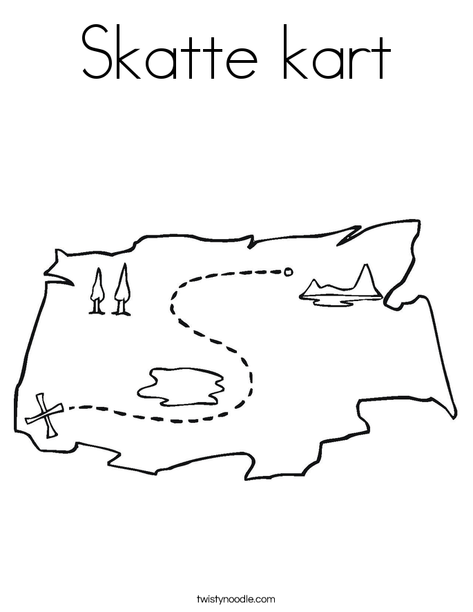 Skatte kart Coloring Page