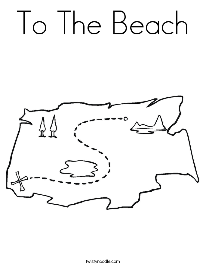 To The Beach Coloring Page