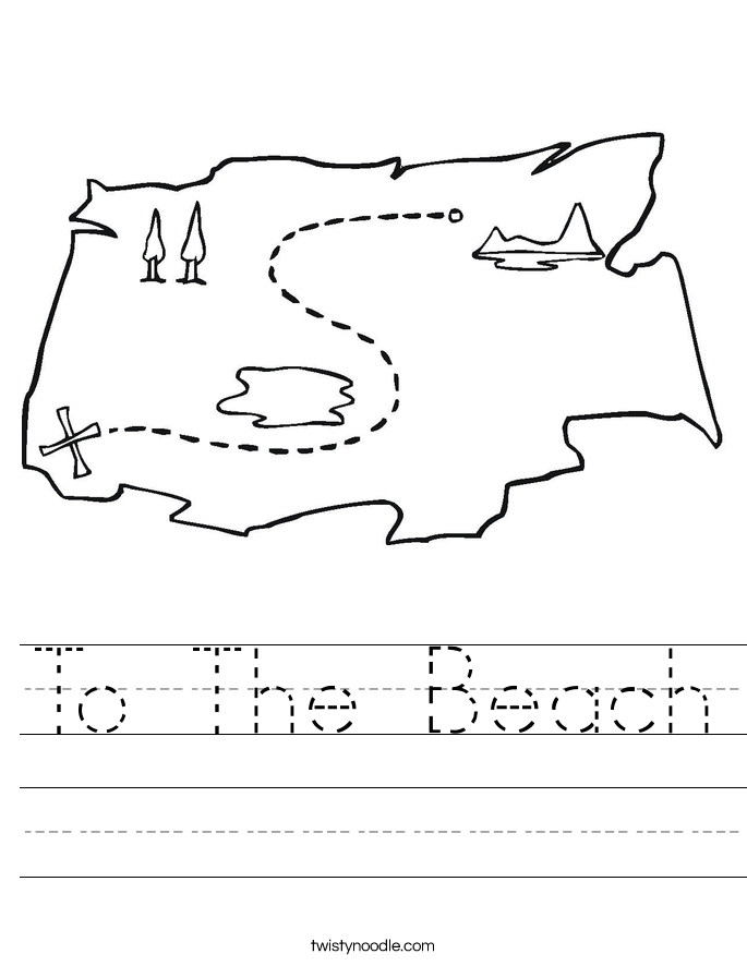 To The Beach Worksheet