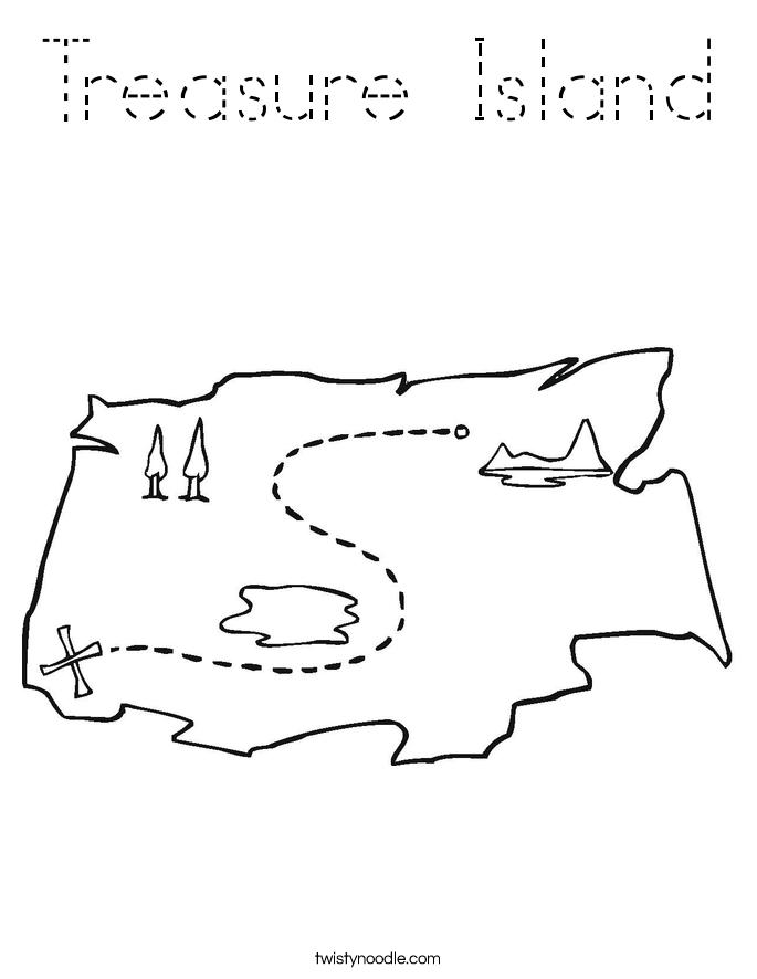 Treasure Island Coloring Page