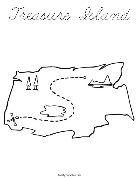 Treasure Map1 Coloring Page