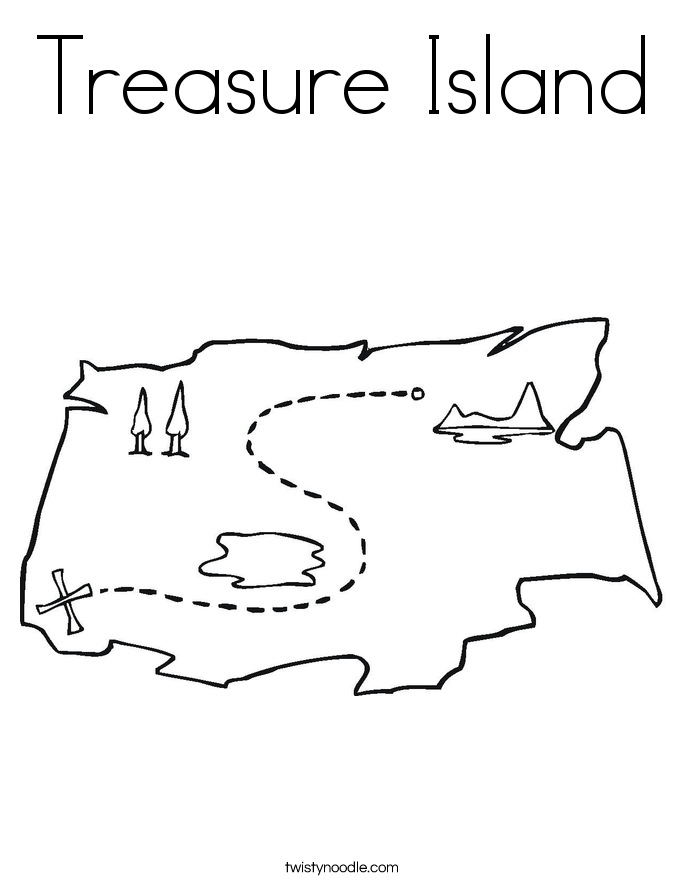 Treasure Island Coloring Page