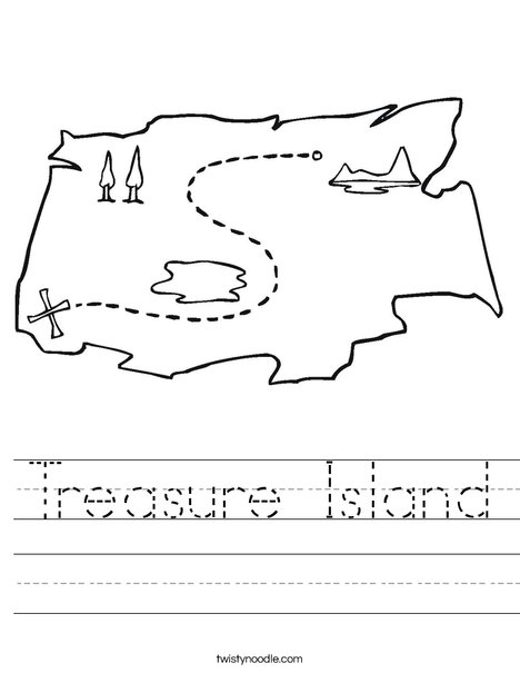 Treasure Island Worksheet - Twisty Noodle