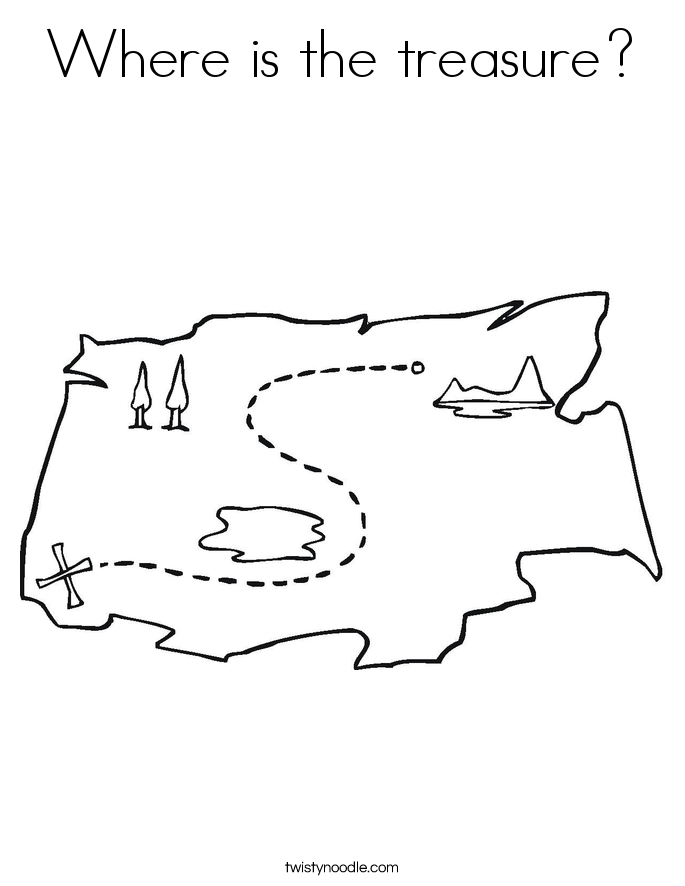 Where is the treasure? Coloring Page