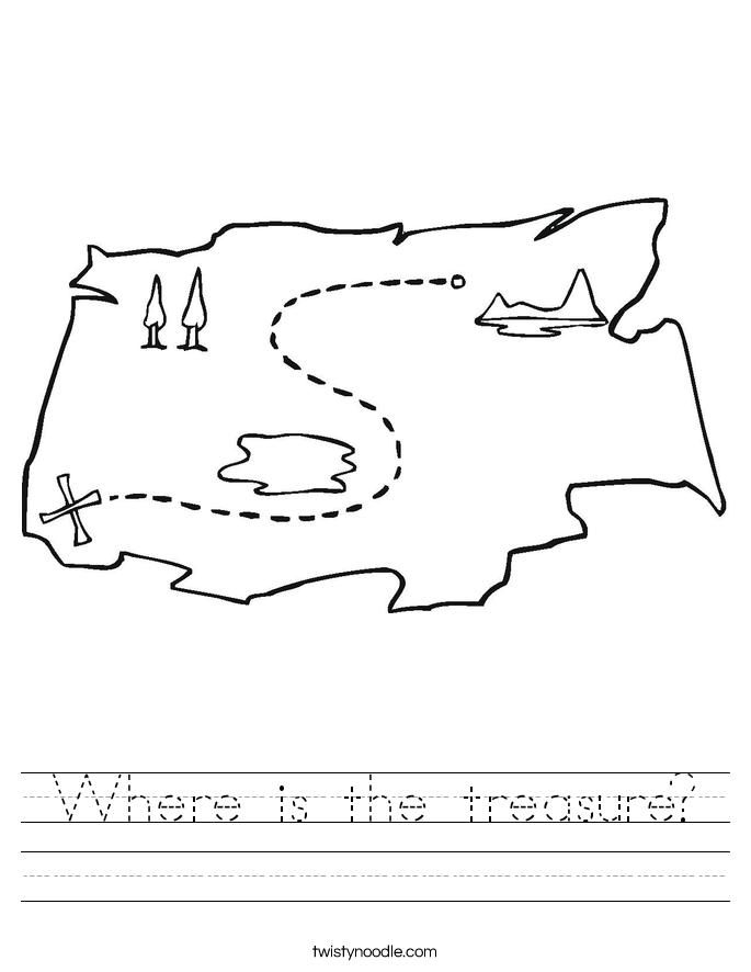 Where is the treasure? Worksheet